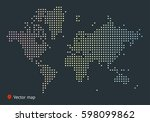 abstract vector map of the... | Shutterstock .eps vector #598099862