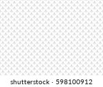 white abstract seamless pattern ... | Shutterstock .eps vector #598100912