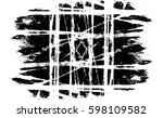 grunge black and white urban... | Shutterstock .eps vector #598109582