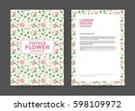 vintage flower background for... | Shutterstock .eps vector #598109972