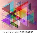 geometric design texture | Shutterstock .eps vector #598116755