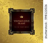 luxury vintage frame and... | Shutterstock .eps vector #598122026
