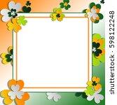 st patrick's day decorative... | Shutterstock .eps vector #598122248