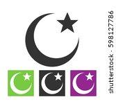 black moon star | Shutterstock .eps vector #598127786