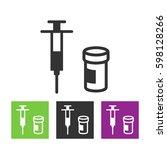 drug prescription pill and... | Shutterstock .eps vector #598128266