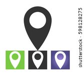 map pin sign location icon in...
