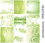 Floral Green Banners
