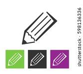 pencil icon vector illustration.