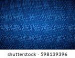 glowing halftone dots pattern.... | Shutterstock .eps vector #598139396