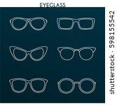 vector linear set of different... | Shutterstock .eps vector #598155542
