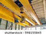 factory overhead crane on a...   Shutterstock . vector #598155845