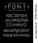thin font. futuristic font.... | Shutterstock .eps vector #598158566