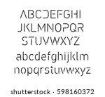thin font. futuristic font.... | Shutterstock .eps vector #598160372