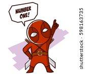 Superhero Baby Boy Fire Sticker