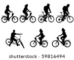 vector drawing bicycle races... | Shutterstock .eps vector #59816494