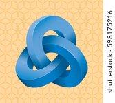 triple mobius loop impossible...   Shutterstock .eps vector #598175216