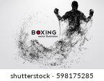 box silhouette. background and... | Shutterstock .eps vector #598175285
