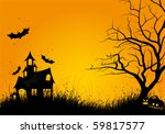 halloween night background with ... | Shutterstock .eps vector #59817577