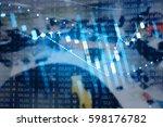 display of stock market quotes. ... | Shutterstock . vector #598176782