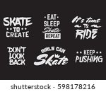 collection of quote... | Shutterstock .eps vector #598178216