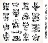vector set of hand drawn... | Shutterstock .eps vector #598187078
