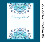 template of the greeting card... | Shutterstock .eps vector #598194572