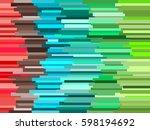 horizontal vector lines... | Shutterstock .eps vector #598194692