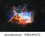 mystic mountain in outer space. ...   Shutterstock . vector #598199372