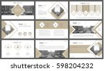 set of infographic elements for ... | Shutterstock .eps vector #598204232