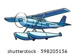 amphibian aircraft illustration ... | Shutterstock .eps vector #598205156