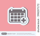 medical calendar   Shutterstock .eps vector #598207172