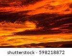 crimson sunset | Shutterstock . vector #598218872