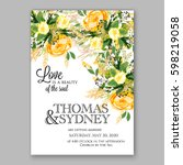 Yellow Rose Floral Wedding...
