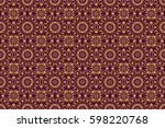 raster golden gradient seamless ... | Shutterstock . vector #598220768