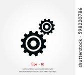 gears icon vector  vector eps... | Shutterstock .eps vector #598220786