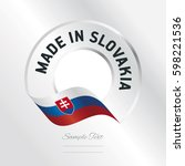 made in slovakia transparent... | Shutterstock .eps vector #598221536