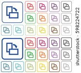rotate right color flat icons... | Shutterstock .eps vector #598224722