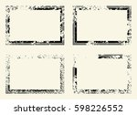 set of templates of rectangle... | Shutterstock .eps vector #598226552