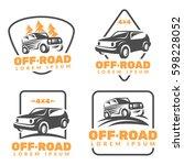 off road car logo. off road...   Shutterstock .eps vector #598228052