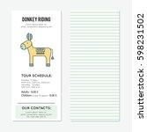 donkey riding vector vertical... | Shutterstock .eps vector #598231502