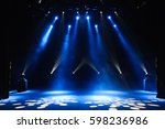free stage with lights ... | Shutterstock . vector #598236986