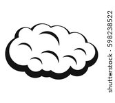 simple illustration of cloud... | Shutterstock .eps vector #598238522
