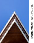 modern triangular shaped... | Shutterstock . vector #598243346