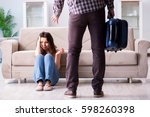 Young family in broken relationship concept - stock photo