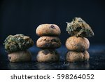 Background With Cannabis Nugs ...