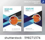 medical cover page  eye concept.... | Shutterstock .eps vector #598271576