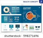 how to eyes care. healthcare... | Shutterstock .eps vector #598271696