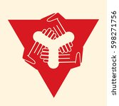 multilateral agreement handshake | Shutterstock .eps vector #598271756