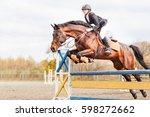 Young Horseback Sportsgirl...