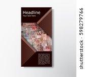 abstract brochure layout vector ...   Shutterstock .eps vector #598279766
